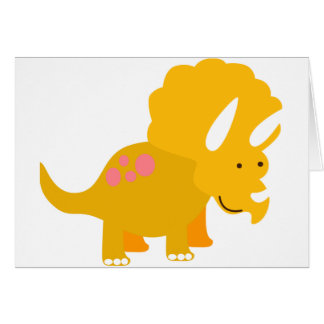 Dino amarillo tarjeta