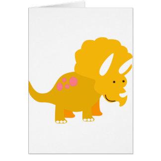 Dino amarillo tarjetón
