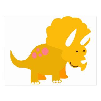 Dino amarillo tarjetas postales