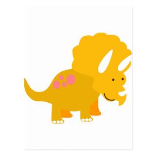 Dino amarillo postales