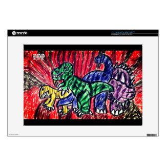 Dino art laptop decal