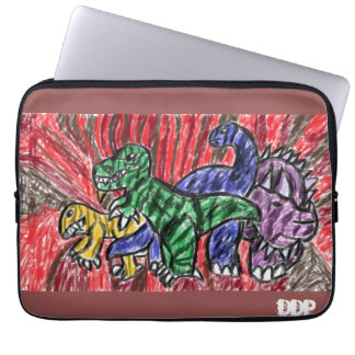 Dino art laptop sleeve