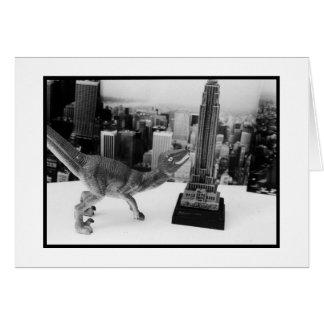 Dino Attacks NYC Card