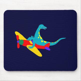 Dino Aviator Mouse Pad