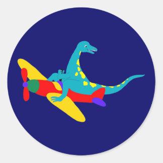 Dino Aviator Stickers