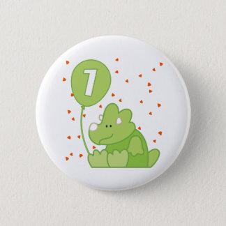Dino Baby 1st Birthday Pinback Button