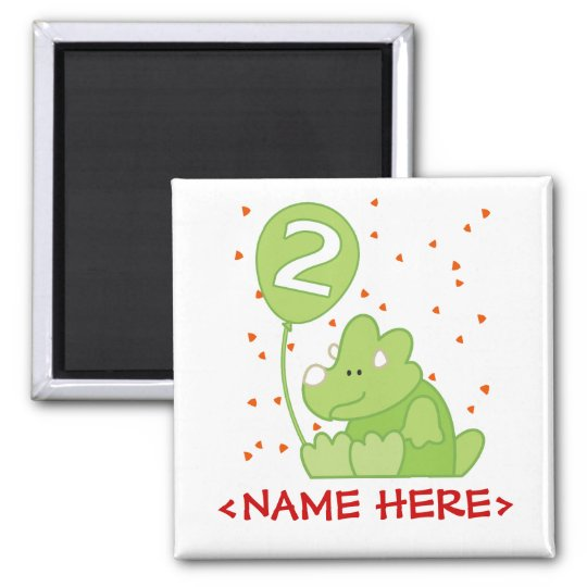 Dino Baby 2nd Birthday Magnet