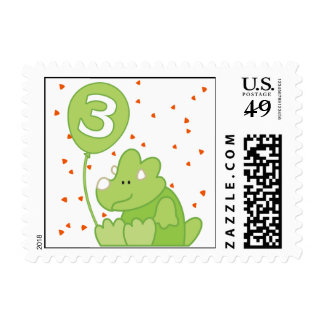 Dino Baby 3rd Birthday Postage