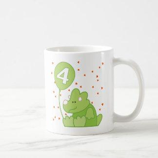 Dino Baby 4th Birthday Mugs