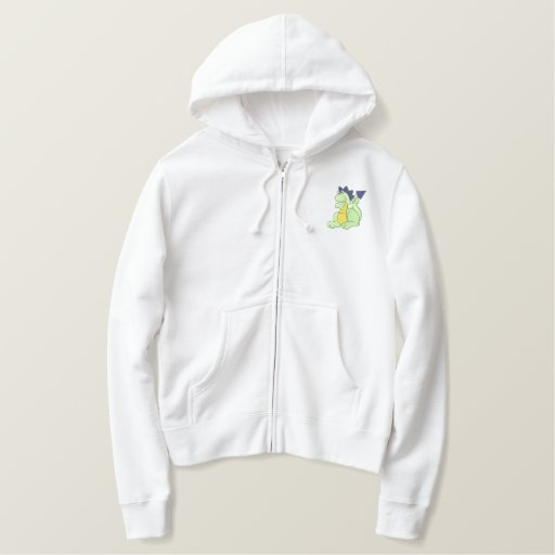 Dino Baby Embroidered Hoodie