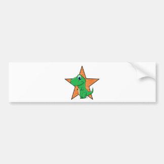 dino baby star bumper sticker