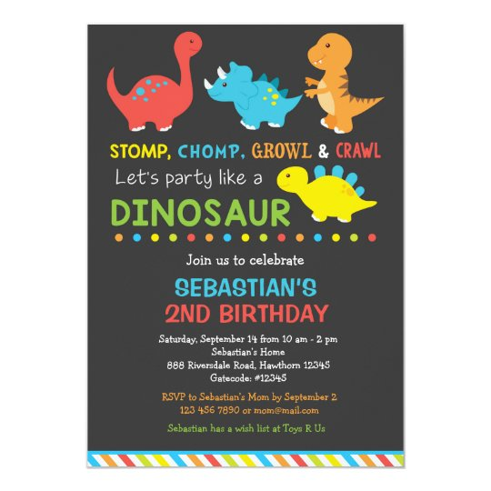 Dino birthday invitation dinosaur invitation zazzle dino birthday invitation dinosaur invitation stopboris Image collections