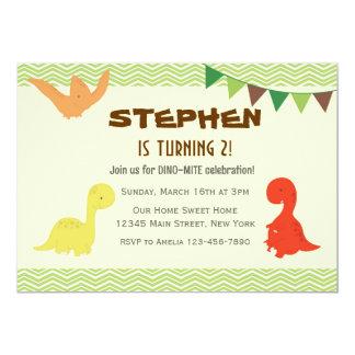 Dino Birthday Party Invitation (Green)