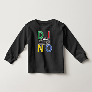 DINO - Black Toddler Long Sleeve T-Shirt