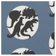 dino blue fabric