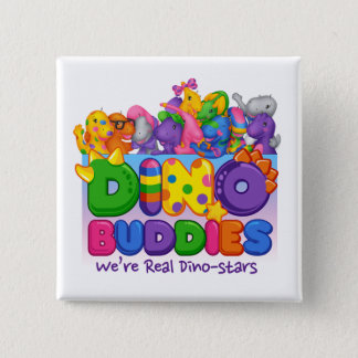 Dino-Buddies Button - Always Together Scene
