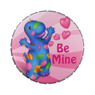 Dino-Buddies™ Candies/Mints w/Tin –Patches™ Hearts Jelly Belly Candy Tins