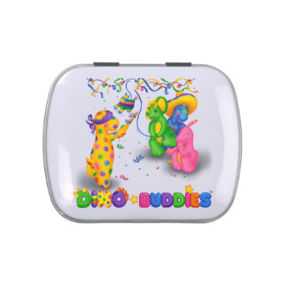 Dino-Buddies™ Candies/Mints w/Tin – Pinata Scene Jelly Belly Candy Tins