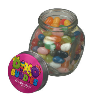 DINO-BUDDIES™ - Gummy Candy & Glass/Tin Container Glass Candy Jar