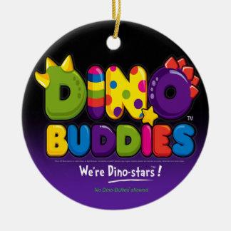 DINO-BUDDIES™ - Logo 2 Ornament Round (Black)