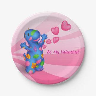 Dino-Buddies® Paper Plate – Be My Valentine!