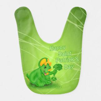 Dino-Buddies™ St. Patrick's Day Bib Trey™ w/Clover