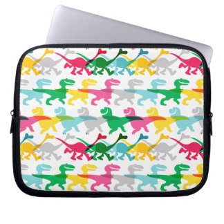 Dino Color Pattern Computer Sleeve