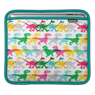 Dino Color Pattern Sleeve For iPads