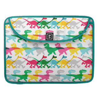 Dino Color Pattern Sleeve For MacBook Pro