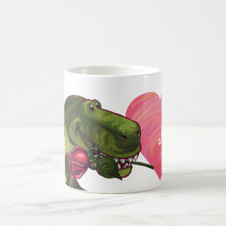 Dino con color de rosa sea taza de la mina