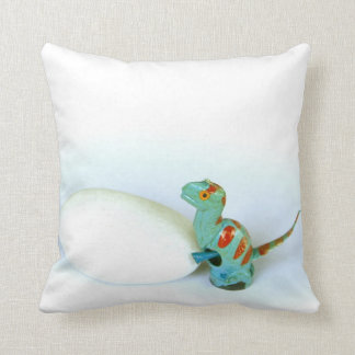 Dino Dinosaur Pushing An Egg Photo Pillow Cushion