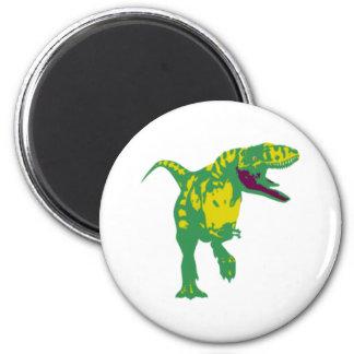 Dino dinosaurio Saurier dinosaur t Rex Imán Redondo 5 Cm