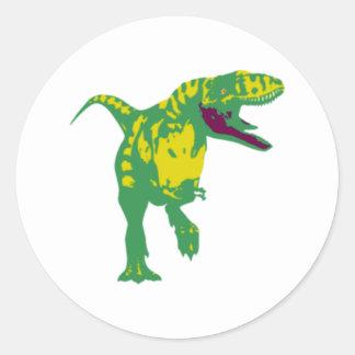 Dino dinosaurio Saurier dinosaur t Rex Pegatina Redonda