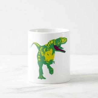Dino dinosaurio Saurier dinosaur t Rex Taza Básica Blanca