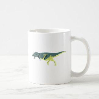 Dino Dinsaurier Saurier dinosaur Albertosaurus Taza Básica Blanca
