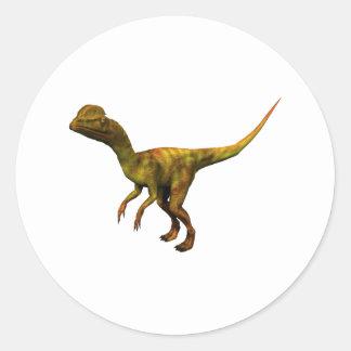 Dino Dinsaurier Saurier dinosaur Dilophosaurus Pegatina Redonda