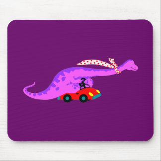 Dino Driving Mouse Pad