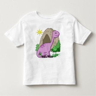 Dino el niño lindo del dinosaurio playera