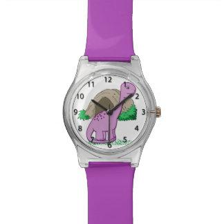 Dino el reloj del niño lindo del dinosaurio