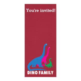 Dino family card