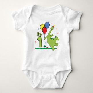 Dino First Birthday Baby Bodysuit