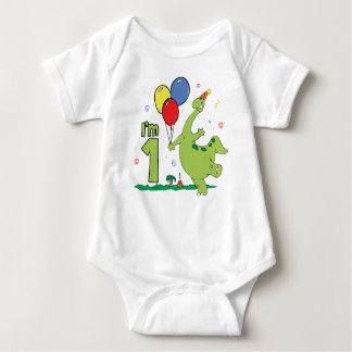 Dino First Birthday Baby Bodysuit