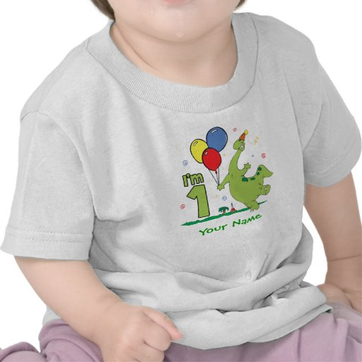 Dino First Birthday Personalized T-shirt