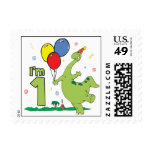 Dino First Birthday Postage Postage