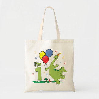 Dino First Birthday Tote Bag