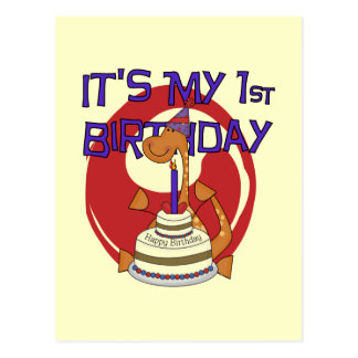 Dino First Birthday Tshirts and Gifts Postcard