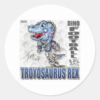 Dino Football Sticker