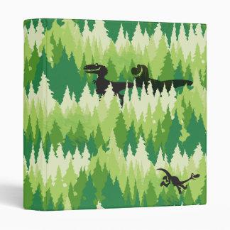 Dino Forest Pattern Binder