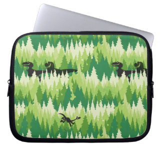 Dino Forest Pattern Computer Sleeve