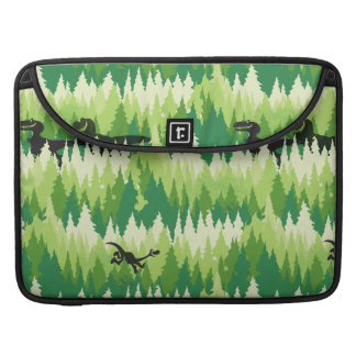 Dino Forest Pattern Sleeve For MacBook Pro